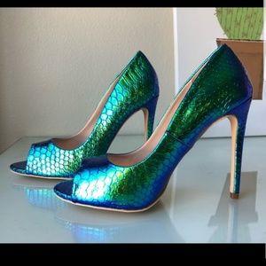 Shoes - Mermaid scale heels